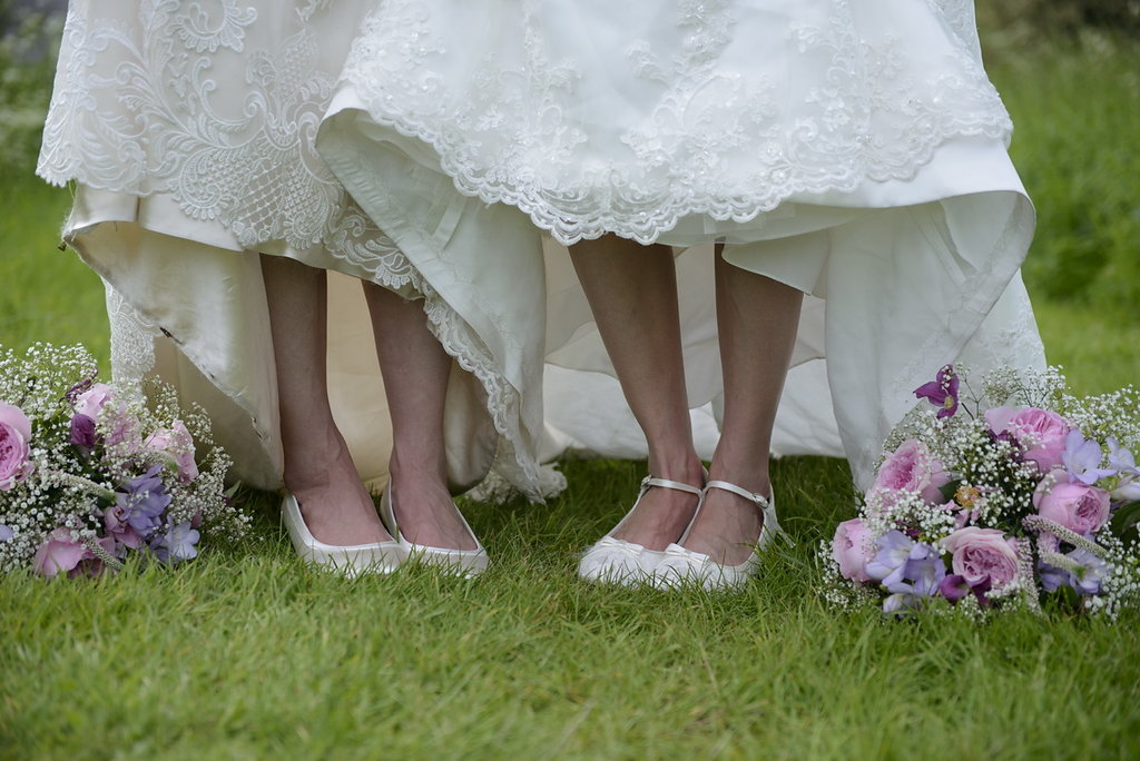 wedding photography of bridesmaids dresses in chichester