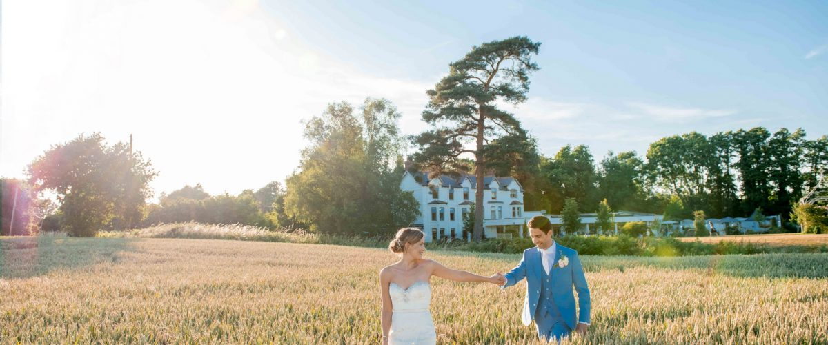 southdowns manor at sunset