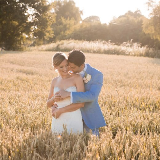 wedding couple sunset photoshoot at southdowns manor in sussex