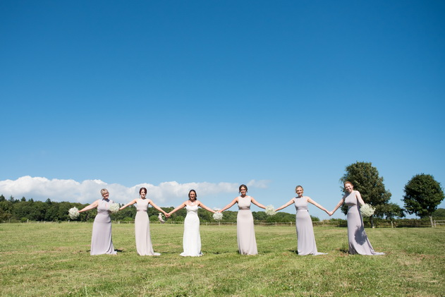 summer bridal party photography chichester