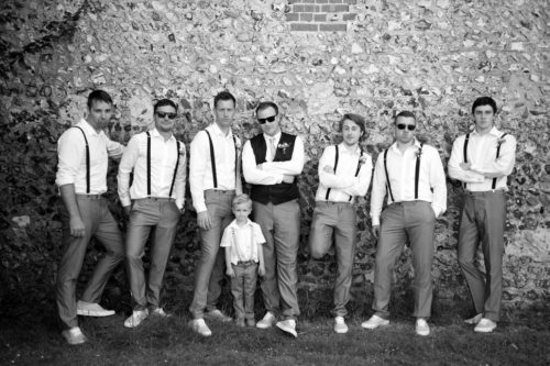 grooms ushers and page boy romantic couples shots in the roses at selden barns wedding venue west sussex