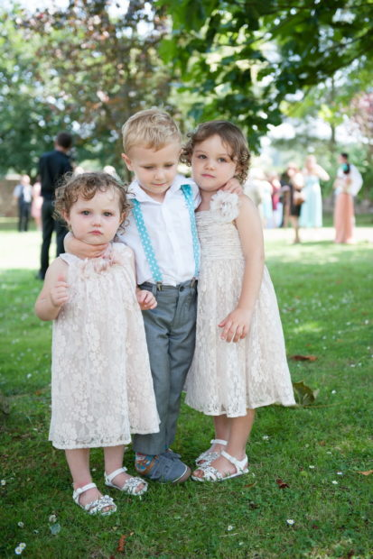 page boy and flower girls at selden barns