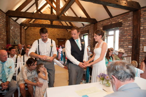 ceremony romantic couples shots in the roses at selden barns wedding venue west sussex